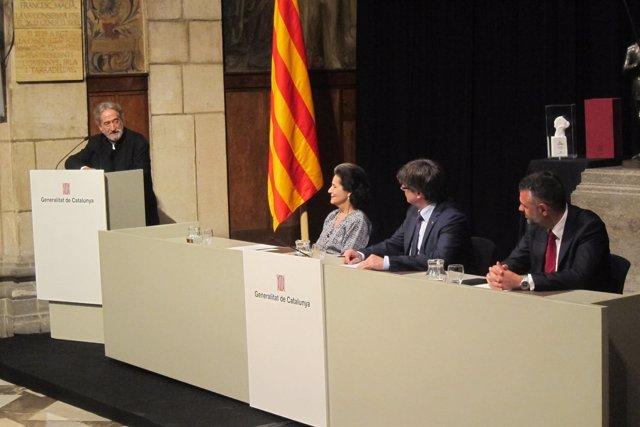Jordi Savall, Marta Casals, Carles Puigdemont, Santi Vila