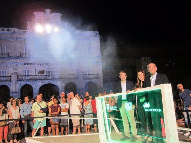 El alcalde de Salamanca, la presidenta de las Cor