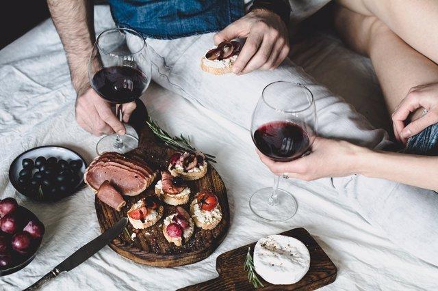 Umami, comida, sabores, vino