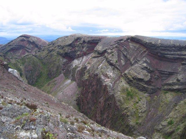 Aspecto del volcán Taupo