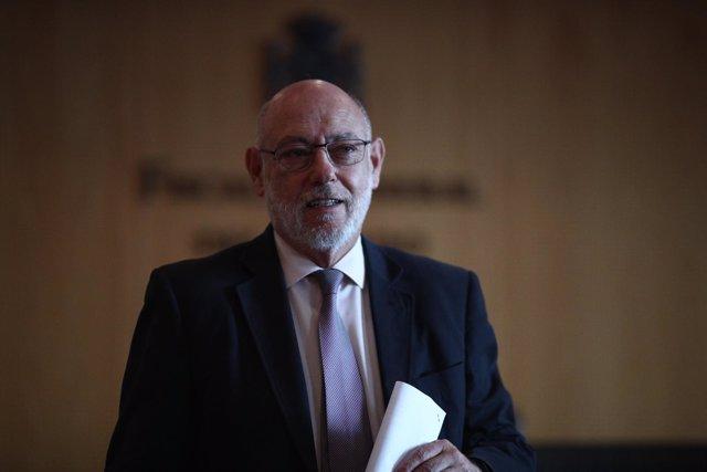 Rueda de prensa del fiscal General del Estado, José Manuel Maza