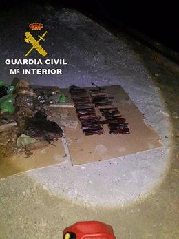 Explosivo tipo goma 1 abandonados en Gran Canaria