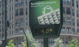 Los termometros llegarán a los 40 grados.