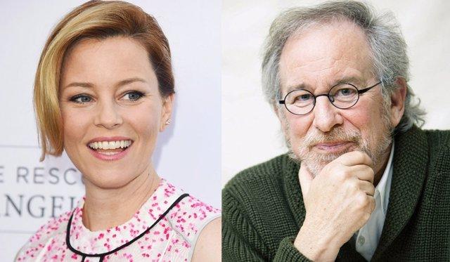 Elizabeth Banks y Steven Spielberg