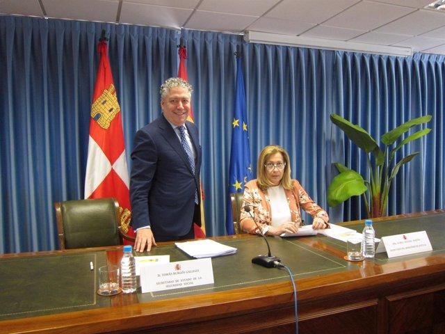 Tomás Burgos, en la Delegación del Gobierno de CyL.
