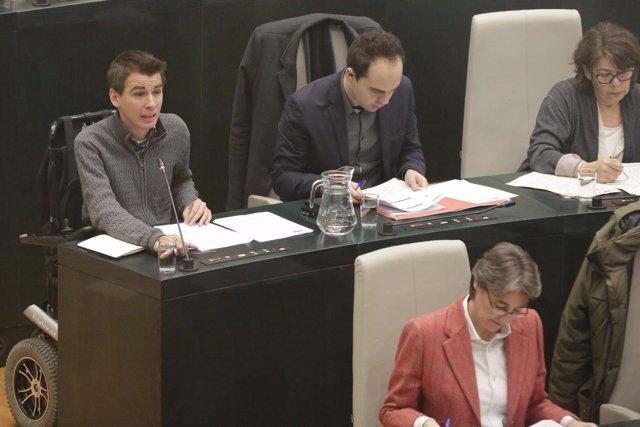 Pablo Soto y José Manuel Calvo en el pleno