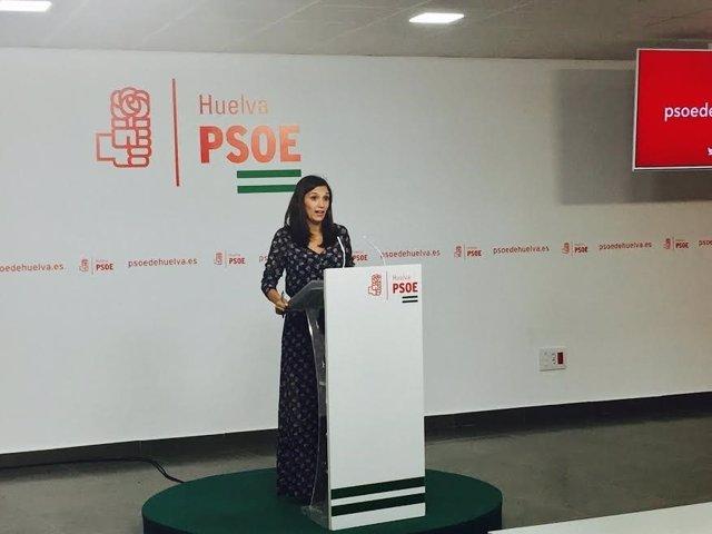 La vicesecretaria general del PSOE de Huelva, María Márquez.