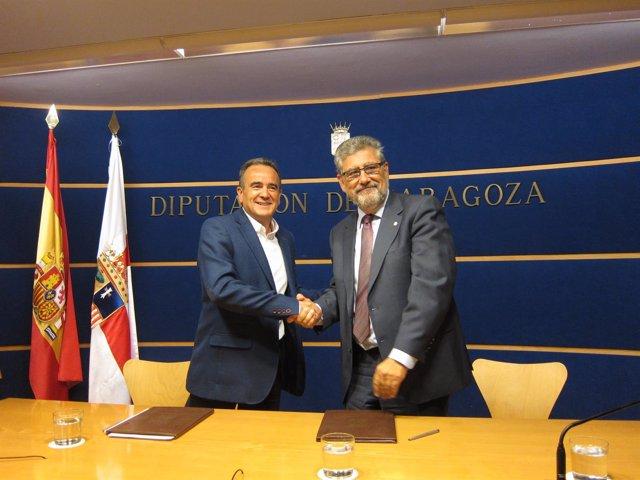 Sánchez Quero y Mayoral han firmado hoy el acuerdo para crear la Cátedra