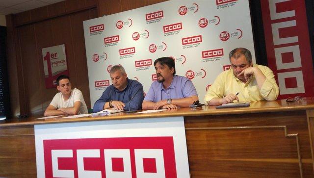 Rueda de prensa de los sindicatos sobre transporte sanitario