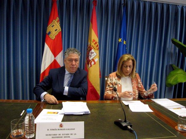 Tomás Burgos, en la Delegación del Gobierno en CyL.