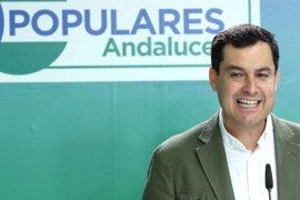 """Moreno: No es """"bueno para Andalucía"""" que Susana Díaz """"pinte poco"""" en el congreso del PSOE"""