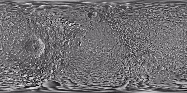 Nuevo mapa de la luna Mimas