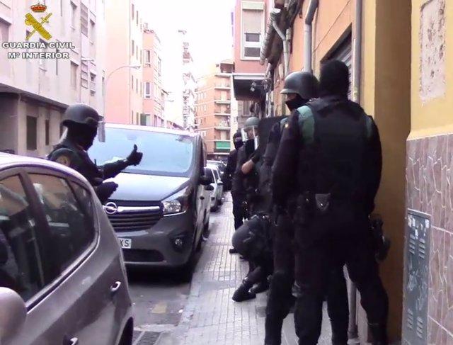 Operación antidroga en Palma