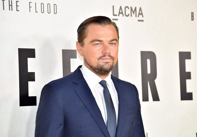 Leonardo DiCaprio en la presentación del documental 'Before the Flood'