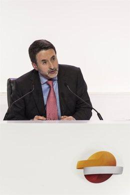 Josu Jon Imaz en la junta general de accionistas de Respsol en 2017