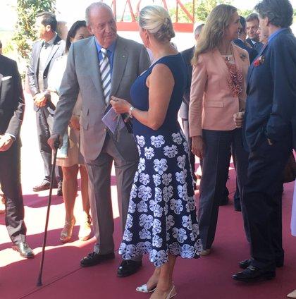El rey Juan Carlos preside el acto de inauguración de la bodega de Rioja de Edmong de Rothschild Heritage y Vega Sicilia