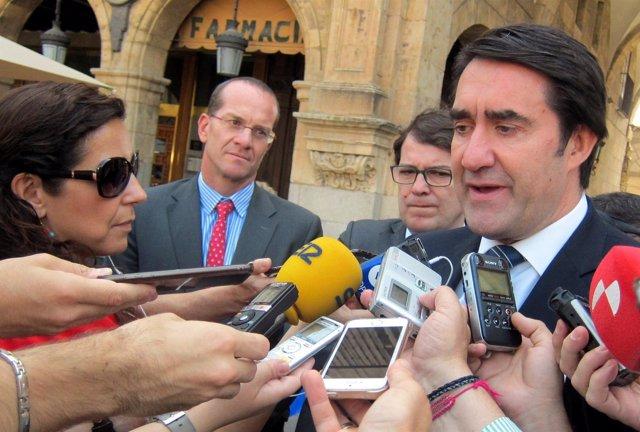 Salamanca: Suárez Quiñones Atiende A Los Medios