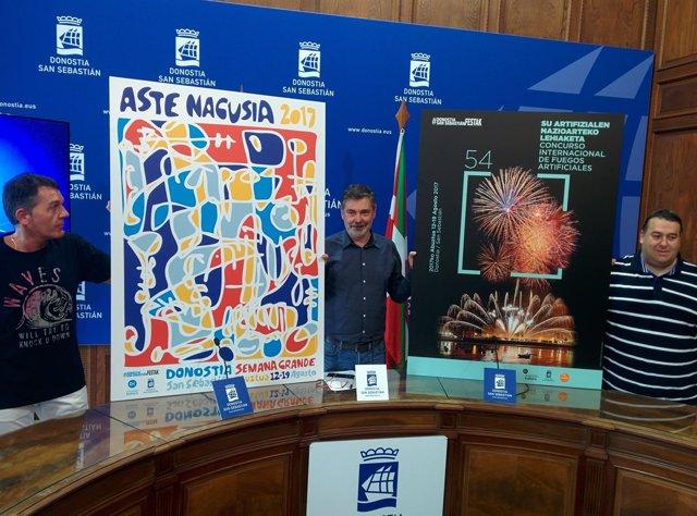 Presentación carteles de Semana Grande Donostia 2017