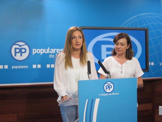 Ascensión Carreño Y Severa González, En La Rueda De Prensa