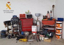 Detenidas tres personas por robos en explotaciones agrícolas