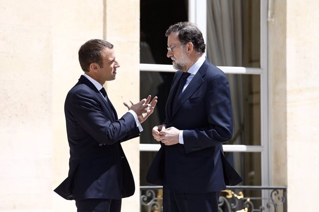 Rajoy y Macron se reúnen en el Palacio del Elíseo