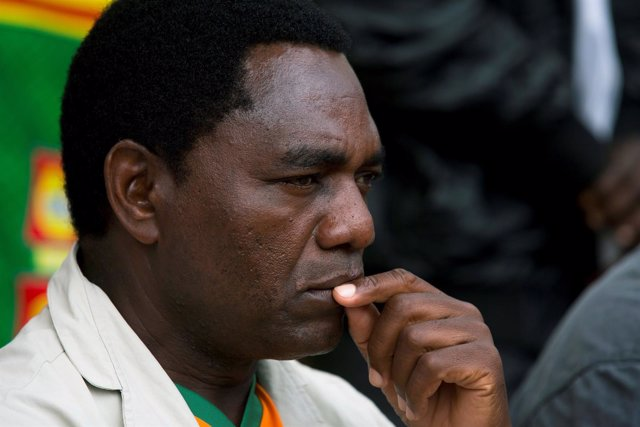 Hichilema, líder de la oposición de Zambia
