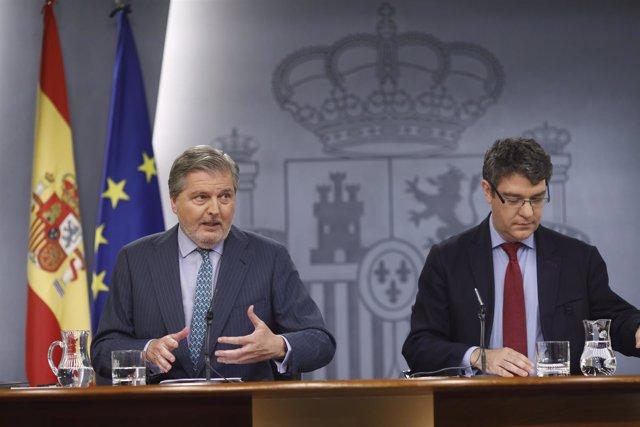 Rueda de prensa de Iñigo Méndez de Vigo y Álvaro Nadal