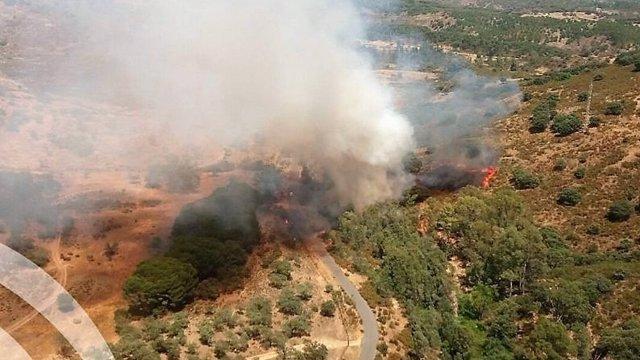 Incendio declarado en Calañas (Huelva)