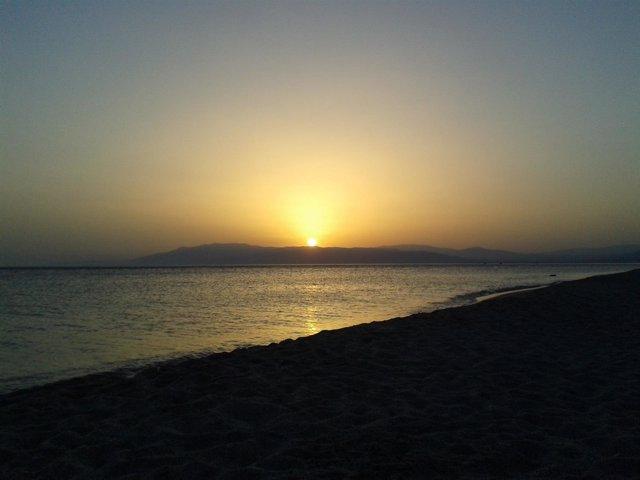 Puesta de sol en Cabo de Gata (Almería)