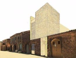 Fachada del futuro Centro de Poesía Contemporánea en Santanyí