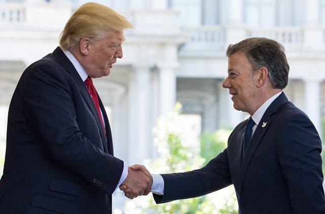 Trump y Santos