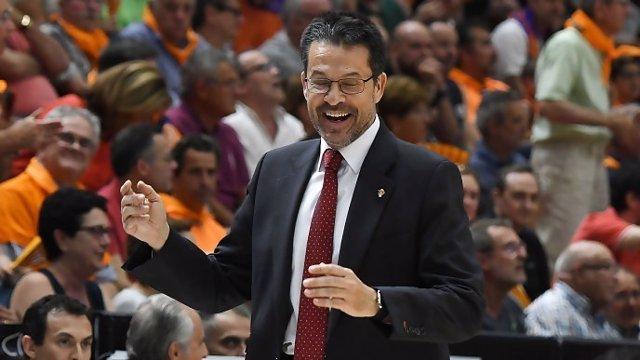 El técnico del Valencia Basket, Pedro Martínez