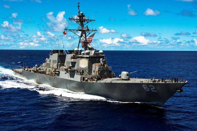El destructor de la Marina de EEUU 'USS Fitzgerald'.