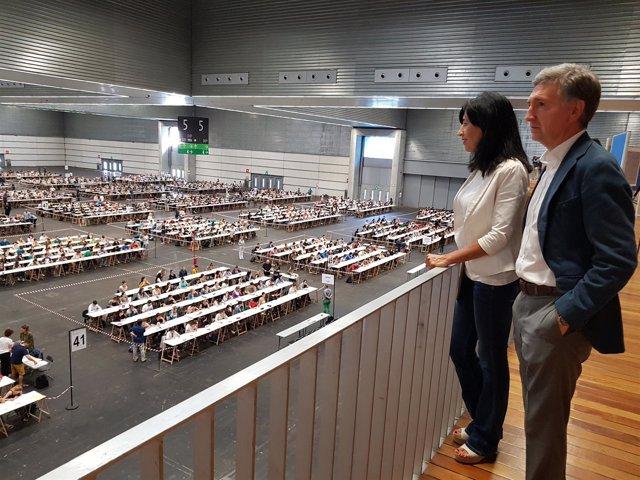 Primera prueba en la OPE de Maestros de Euskadi