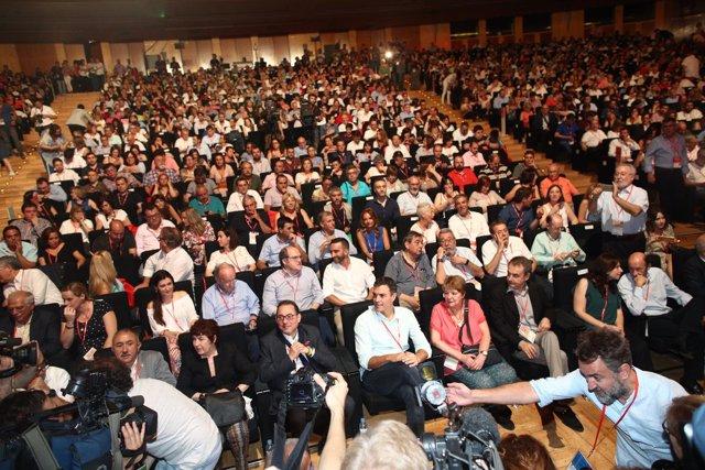 Los socialistas durante el Congreso del PSOE