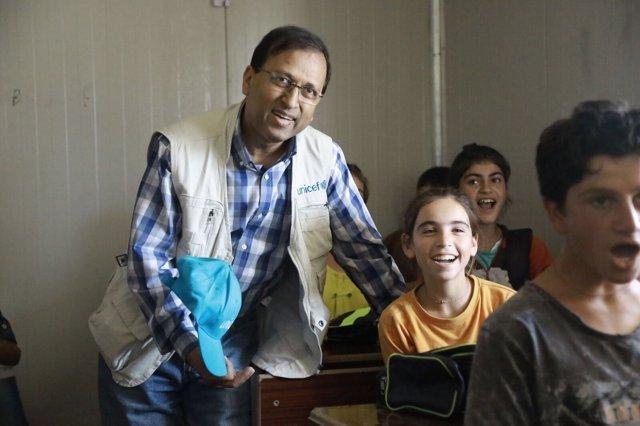 Ershad Karim, jefe de UNICEF en Siria