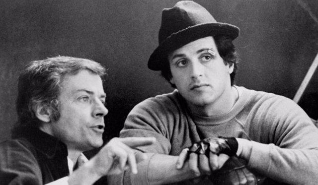 John G. Avildsen y Sylvester Stallone
