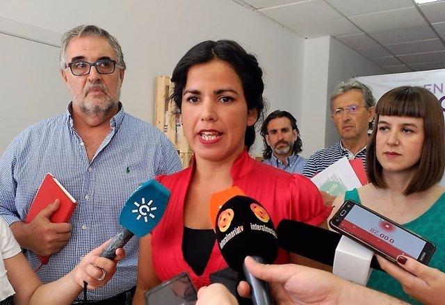 La coordinadora de Podemos en Andalucía, Teresa Rodríguez