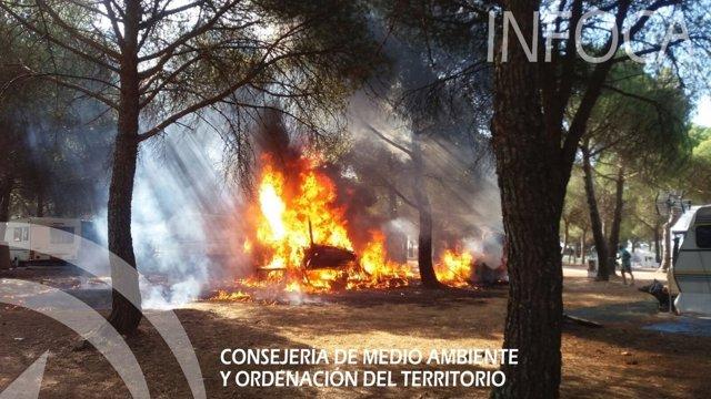 Incendio en Santa Elena (Jaén)