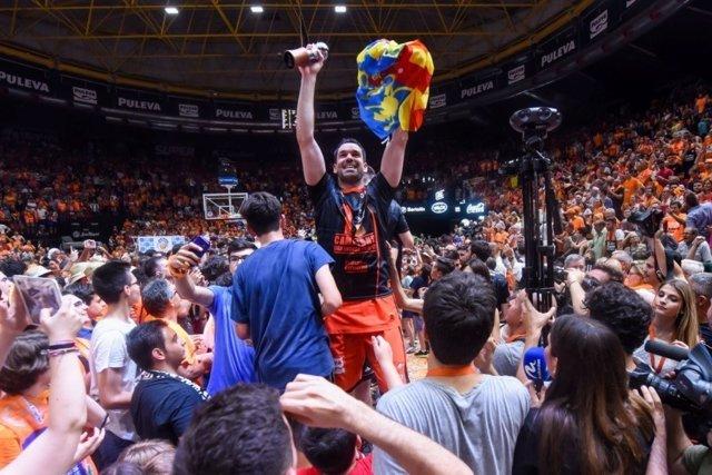 Valencia Basket celebración Liga Endesa ACB