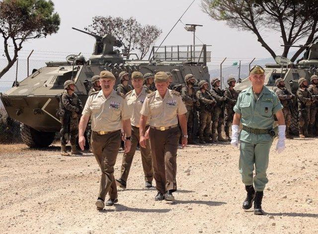 El comandante general de Ceuta visita Melilla