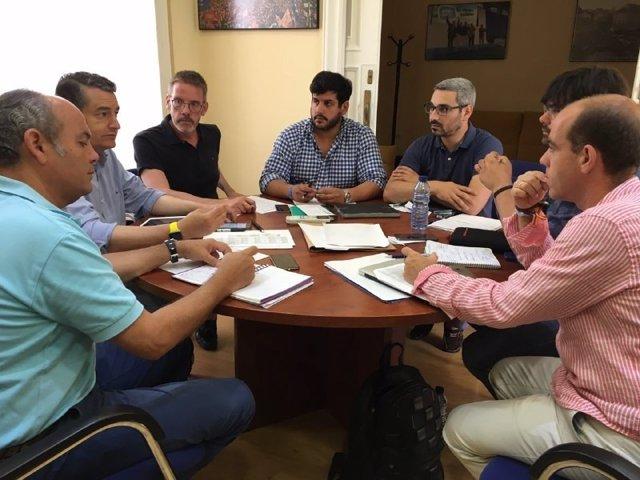 Antonio Sanz, en una reunión.