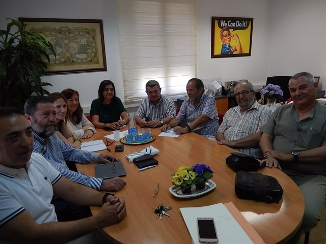 Reunión del PSOE y CCOO de Córdoba