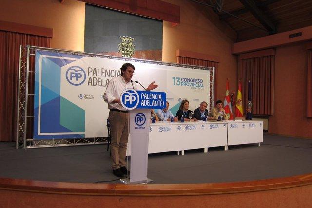 Fernández Mañueco, durante el congreso.