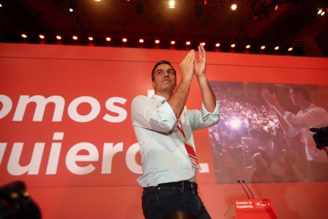 Pedro Sánchez en el Congreso del PSOE
