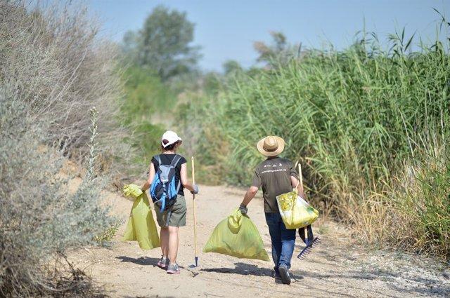 Batida de limpieza de residuos de la campaña '1 metro2 por la naturaleza'