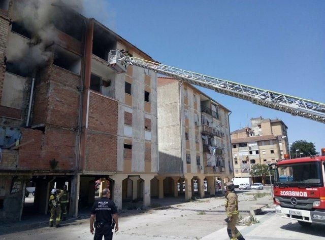 Incendio en Sevilla.
