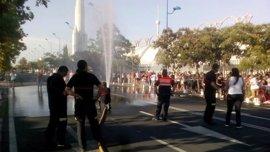 Activan un operativo especial en la cola de acceso al concierto de Vanesa Martín debido al calor