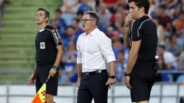 Juan Antonio Anquela, entrenador del Huesca