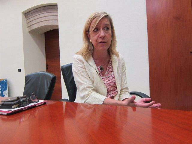 La presidenta de la AMI, N.Lloveras.